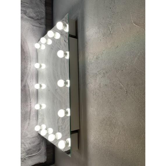 Sminkespeil Hollywood 100x80 - Veggmontert - Make up speil
