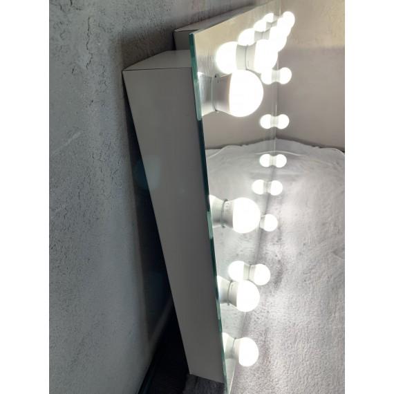 Sminkespeil Hollywood 50x60 - Vegghengt - Make up speil