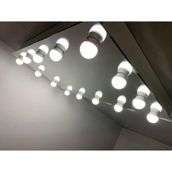 Sminkespeil Hollywood 60x80 - Vegghengt - Make up speil