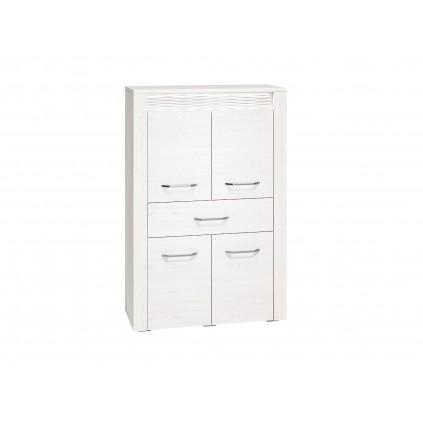 Skjenk Clermont 92x140 cm - Hvit furu