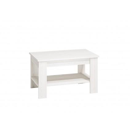 Sofabord med hylle Clermont 96x57 cm - Hvit furu