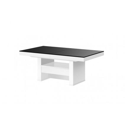 Sofabord Averso Lux 120-170 cm - Høyt - Svart matt - Hvit høyglans