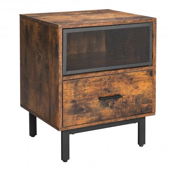 Nattbord - skap Erian 45x55 cm - Industriell stil