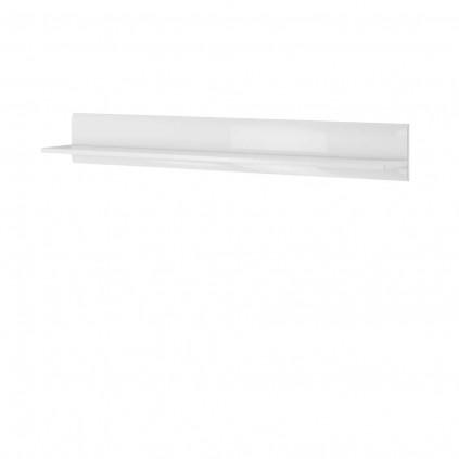 Hylle Tols 180 cm - Hvit høyglans