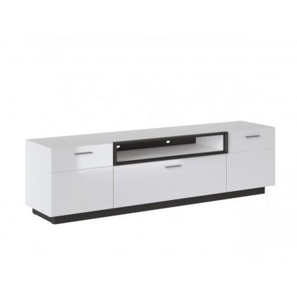 TV-benk Avenna 185x52 cm - Hvit høyglans