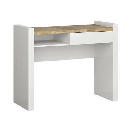 Toalettbord Modea 100x80,5 cm - Hvit Høyglans - Eikelook