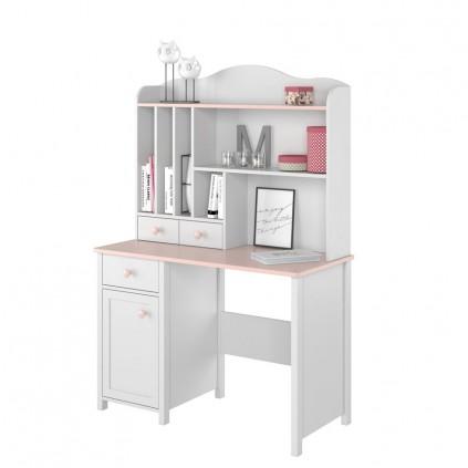 Toalettbord med hyller Lena 110 x 161 cm - Hvit matt - Rosa