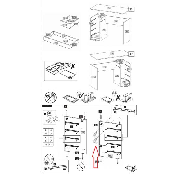 Toalettbord Dea 120 cm - Hvit Høyglans