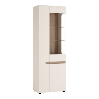 Vitrineskap Nateo 64 cm - Hvit Høyglans - Moderne Design
