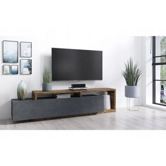 TV Seksjon Scaleo - Mørk Grå - Trelook - Moderne design