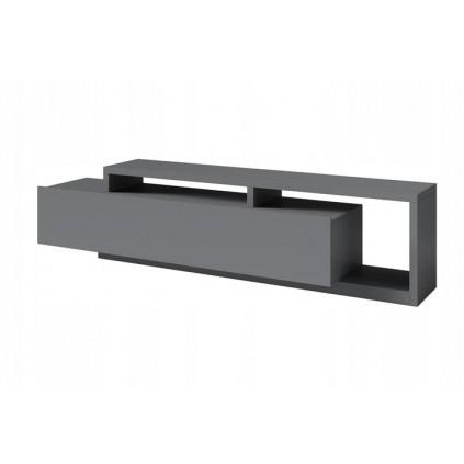 Tv-benk Scaleo 219 cm - Grå matt - 1 skuff