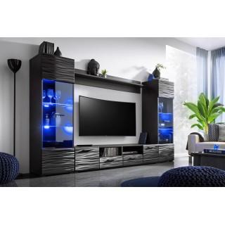 Seksjon Modica - Svart Høyglans TV-møbler