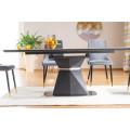 Spisebord Cortezo 160-210 cm - Glass - Keramikk - Marmorlook