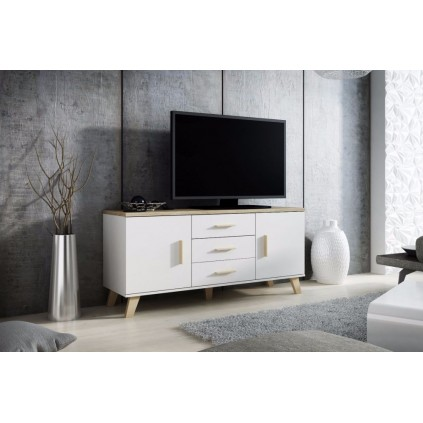 Skjenk Evena 150x69 cm - Hvit matt - Eikelook